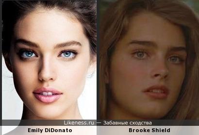Модель Эмили ДиДонато напоминает юную Брук Шилдс