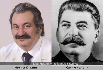Салим Бахшоевич Чолоян похож на Иосифа Сталина