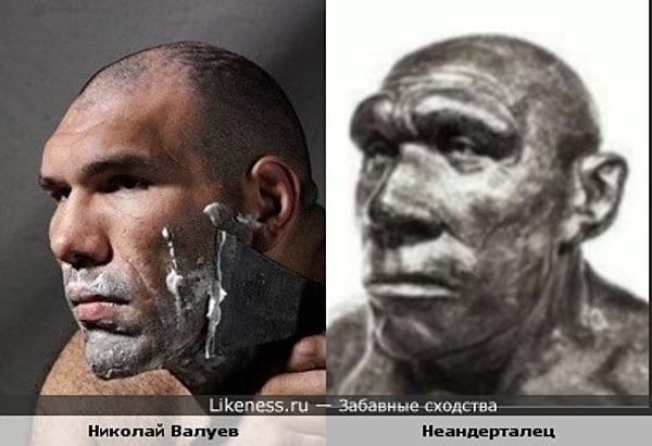 Николай Валуев похож на неандертальца