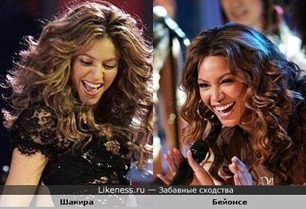 Шакира похожа на Бейонсе