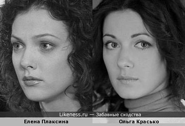 Елена Плаксина похожа на Ольгу Красько