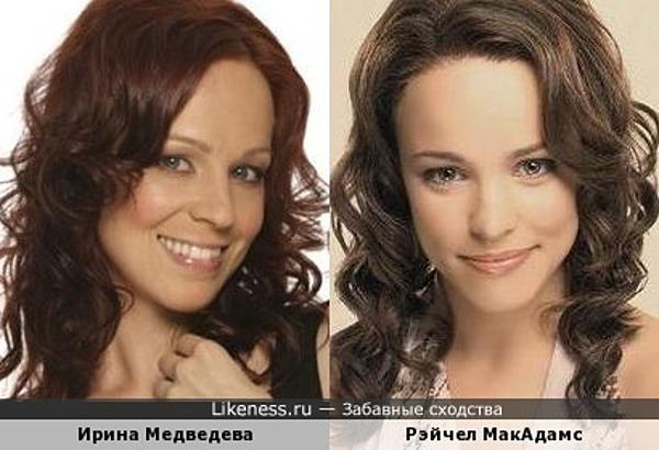 Две красотки МакАдамс и Медведева