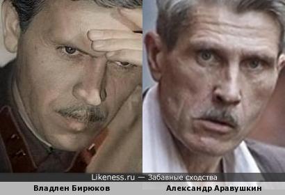 Владлен Бирюков похож на Александра Аравушкина