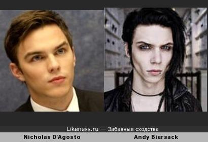 Nicholas D'Agosto похож на Andy Biersack