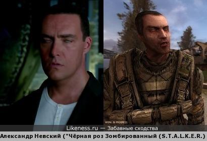 """Александр Невский в одном из кадров """"Чёрной розы"""