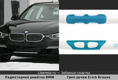 Грип ручки Erich Krause XR30 чем-то похож на радиаторную решётку BMW
