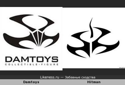 Логотип Damtoys чем-то похож на логотип игры Hitman