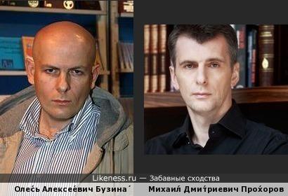 Бузина похож на Прохорова