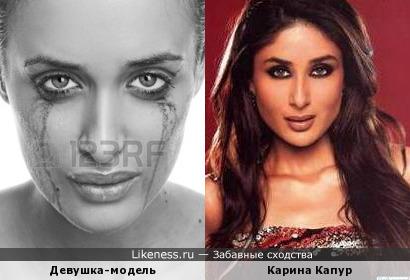 Модель похожа на актрису Карину Капур