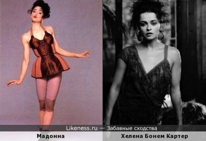 Мадонна напомнила здесь Хелену Бонем Картер