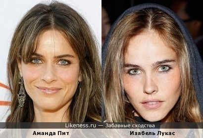Аманда Пит похожа на Изабель Лукас
