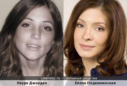 Лаура Джордан и Елена Подкаминская
