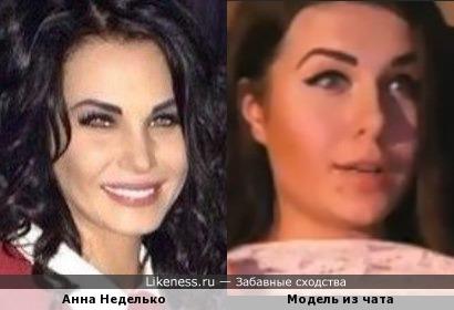 Анна Неделько и модель из чата
