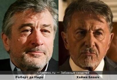 Роберт де Ниро и Хайме Бланч