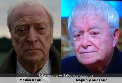 Майкл Кейн и Марио Донатоне