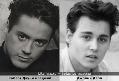Роберт Дауни младший и Джонни Депп