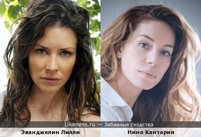 Эванджелин Лилли и Нино Кантария