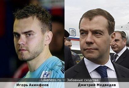 Игорь Акинфеев похож не только на различных актеров
