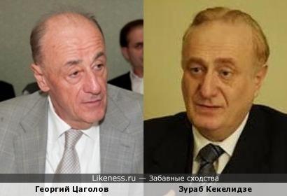 Два известных профессора: экономист Георгий Цаголов и медик Зураб Кекелидзе