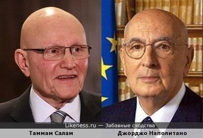 Ливанский премьер-министр и итальянский президент