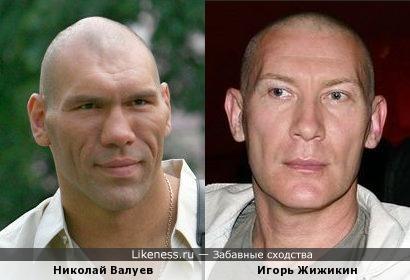 Николай Валуев и Игорь Жижикин