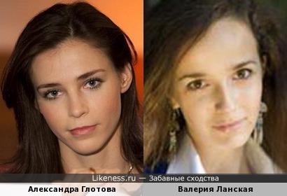 Телеведущая Александра Глотова и актриса Валерия Ланская