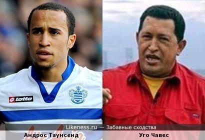 Английский футболист Андрос Таунсенд напомнил Уго Чавеса
