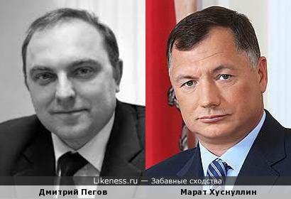 Московские VIP-ы: начальник метрополитена Дмитрий Пегов и вице-мэр Марат Хуснуллин