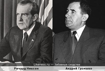 В 50-е - 60-е годы многим казалось, что Никсон и Громыко похожи