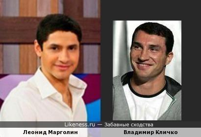 Телеведущий Леонид Марголин похож на братьев Кличко