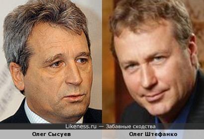Два Олега: политик Сысуев и актер Штефанко