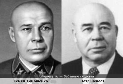 Семён Тимошенко и Пётр Шелест