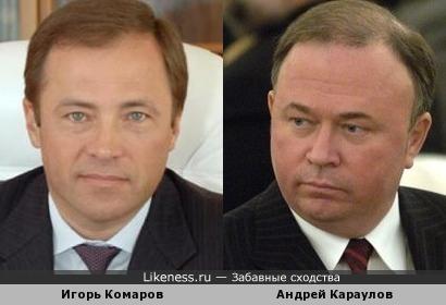 Глава Роскосмоса Игорь Комаров и тележурналист Андрей Караулов
