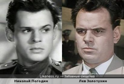 Актеры Николай Погодин и Лев Золотухин