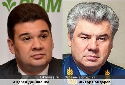 Главный молочник Андрей Даниленко и Главный авиатор Виктор Бондарев
