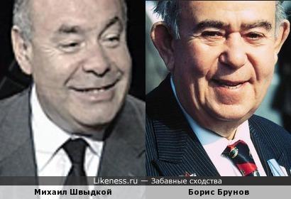 Михаил Швыдкой и Борис Брунов