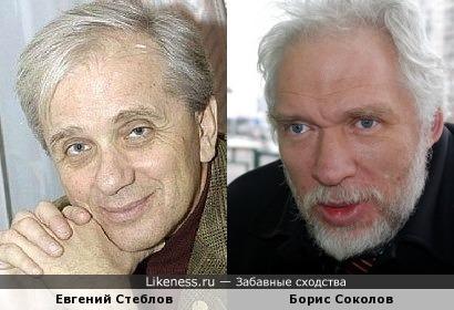 Евгений Стеблов и историк Борис Соколов