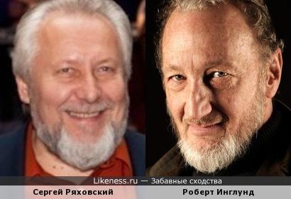Глава российских пятидесятников Сергей Ряховский и актер Роберт Инглунд