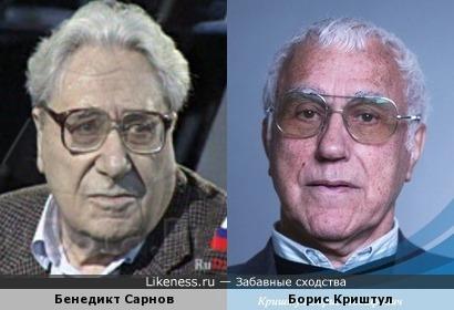 Литературовед Бенедикт Сарнов и киноорганизатор Борис Криштул