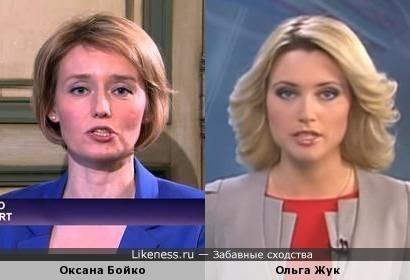Телеведущие Оксана Бойко и Ольга Жук