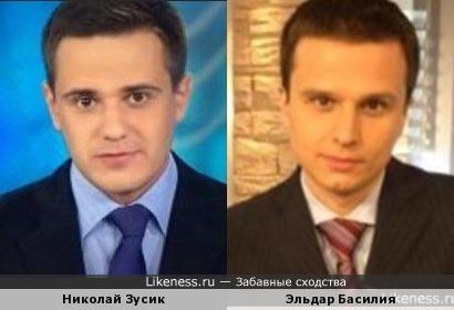 Телеведущие Николай Зусик и Эльдар Басилия