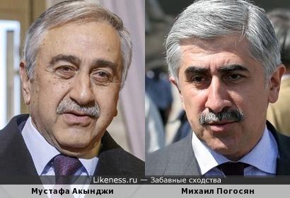 Глава турецкой общины Кипра Мустафа Акынджи и ректор МАИ Михаил Погосян