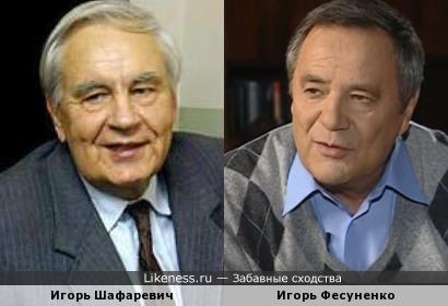 Знаменитые Игори: академик Шафаревич и журналист Фесуненко