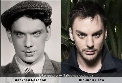 Алексей Баталов похож на Шеннона Лето