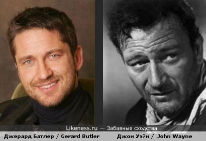 Джерард Батлер похож на Джона Уэйна