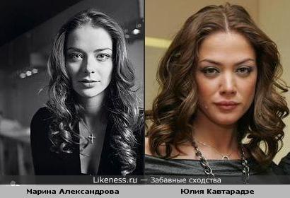 Марина Александрова на этом фото похожа на участницу группы Никита Юлию Кавтарадзе