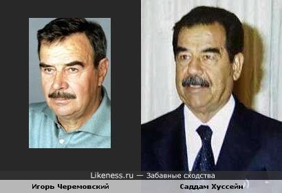 Игорь Черемовский похож на Саддама Хуссейна