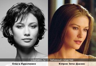 Ольга Куриленко и Кэтрин Зета-Джонс