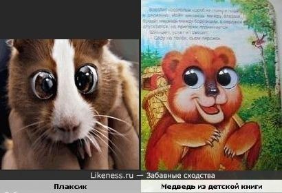 Мишка,который похож на Медведева,похож на Плаксика