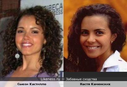 Мисс США 2003 Сьюзи Кастилло и Настя Каменских